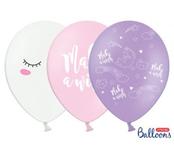 Latex Balloons Make a Wish Unicorn (6pcs)