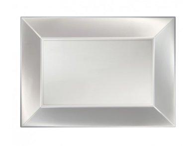 White Pearl Plastic Trays (3pcs)