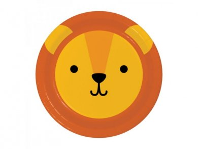 Lion Small Paper Plates 8/pcs