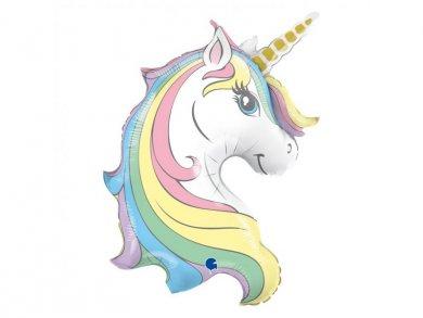 Macaron Unicorn Head Supershape Balloon (99cm)