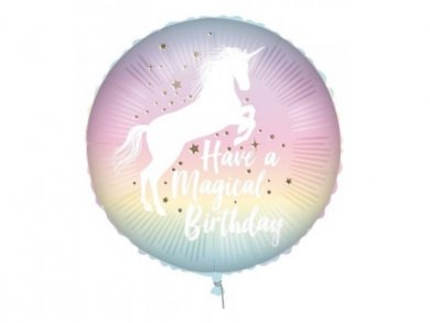 Magical Unicorn Birthday Foil Balloon 46cm
