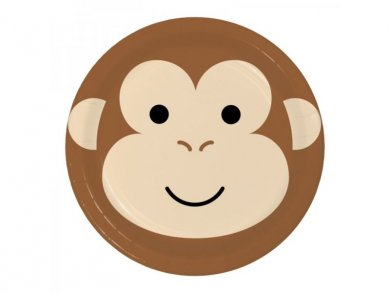 Monkey Large Paper Plates (8pcs)
