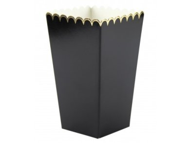 Black Treat Boxes with Gold Foiled Edging (8pcs)