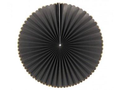 Black Decorative Fans with Gold Foiled Details (3pcs)