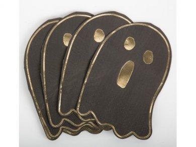 Μαύρες Χαρτοπετσέτες Φαντασματάκι με Χρυσοτυπία (16τμχ)