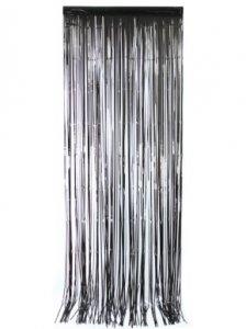 Black Decorative Curtain (92cm x 245cm)