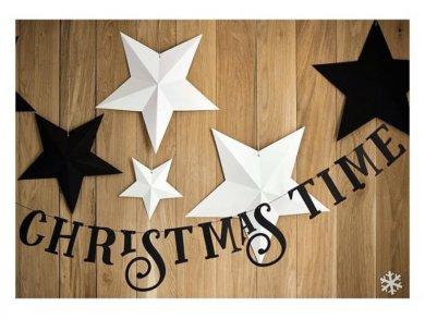 Μαύρη Γιρλάντα Christmas Time 80εκ