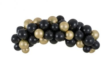 Black and Gold Latex Balloons Garland - Arch (2m)