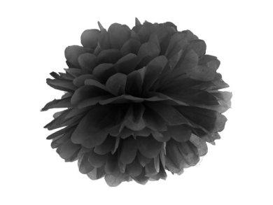 Μαύρο Πομ Πομ (Fluffy) (25εκ)