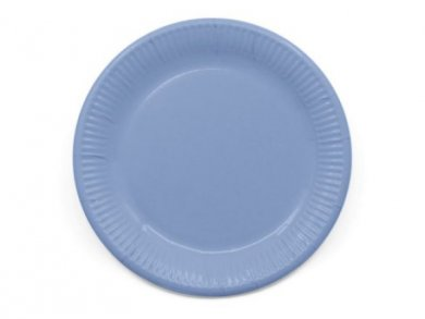 Large Compostable Paper Plates in Blue Periwinkle Color 8pcs