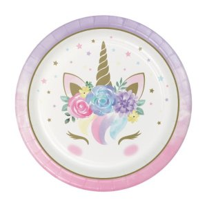 Baby Unicorn Large Paper Plates (8pcs)