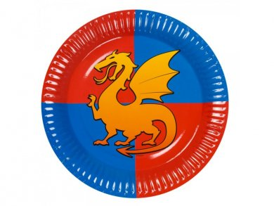 Knights Large Paper Plates (6pcs)