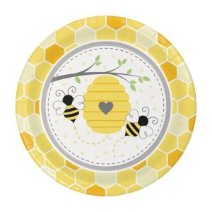 Bumble Bee Large Paper Plates (8pcs)