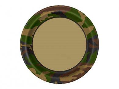 Στρατιωτικό Μεγάλα Χάρτινα Πιάτα (8τμχ)