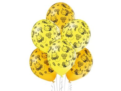 Little Bee Yellow Latex Balloons (6pcs)