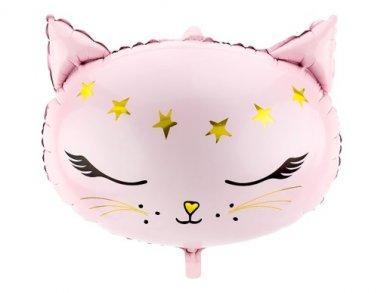 Meow Ροζ Γατούλα Μπαλόνι Foil με Σχήμα (48εκ x 36εκ)
