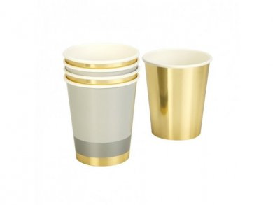 Metallic Paper Cups 8pcs