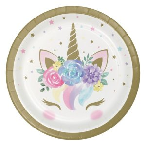Baby Unicorn Small Paper Plates (8pcs)