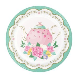 Floral Tea Party Small Paper Plates (8pcs)