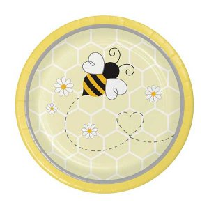 Bumble Bee Small Paper Plates (8pcs)