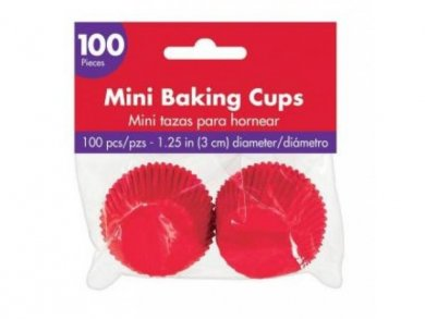 Mini Baking Cups in Red Color 100pcs