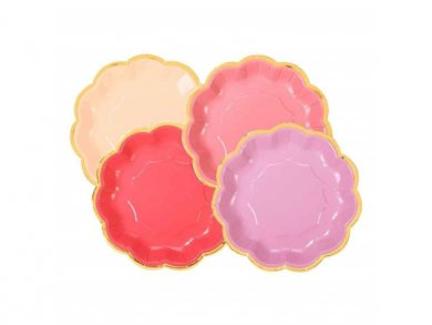 Mix of Rose Small Paper Plates (12pcs)