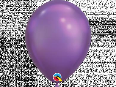 Purple Chrome Latex Balloons 6pcs