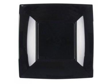 Μοδάτα Μαύρα Μικρά Τετράγωνα Πιάτα (8τμχ)