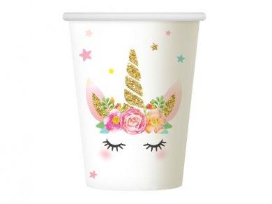 Unicorn Face Paper Cups (6pcs)