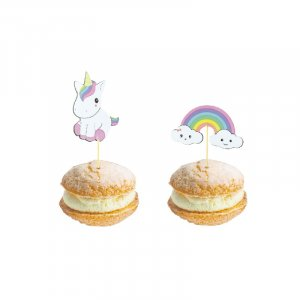 Unicorn and Rainbow Decorative Picks (10pcs)