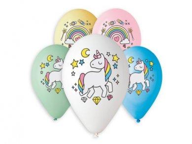Rainbow and Unicorn Latex Balloons (5pcs)