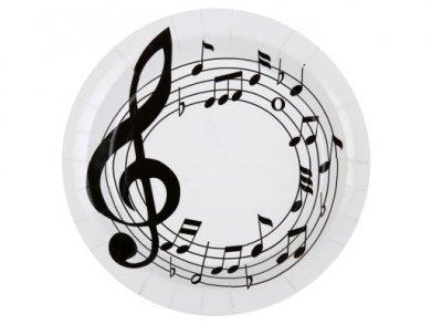 Μουσικές Νότες Μεγάλα Χάρτινα Πιάτα (10τμχ)
