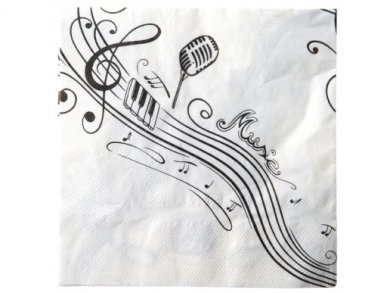 Musical Notes Luncheon Napkins (20pcs)