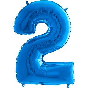 Supershape Μπαλόνι Αριθμός-Νούμερο 2 Μπλε (100εκ)