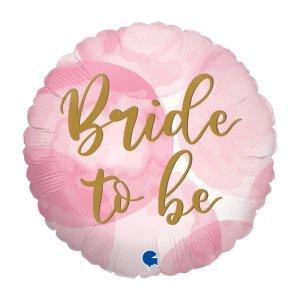 Ροζ Μπαλόνι Foil Διπλής Όψης Bride to Be and Miss to Mrs (45εκ)
