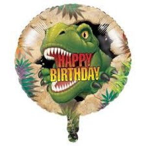 Dinosaures Balloon Foil Happy Birthday