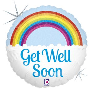 Get Well Soon Rainbow Balloon Foil