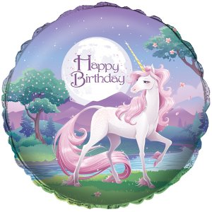 Foil Balloon Happy Birthday Unicorn