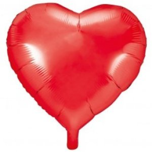 Red Heart Shaped Foil Balloon (45cm)