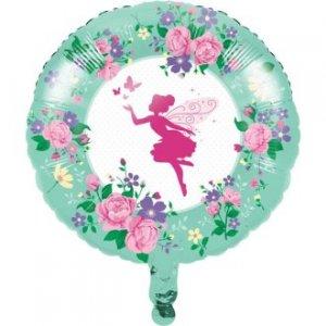 Λαμπερή Νεράιδα Floral Μπαλόνι Foil