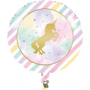 Foil Balloon Unicorn with Stars