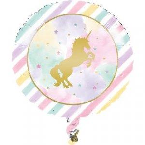 Foil Μπαλόνι Μονόκερος Με Αστεράκια