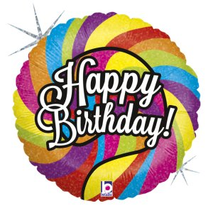 Colourful Lollipop Happy Birthday Balloon Foil