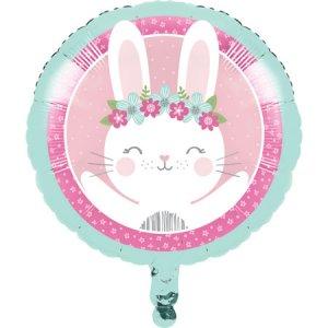 Ροζ Κουνελάκι Μπαλόνι Foil