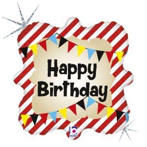 Circus happy Birthday Holographic Design Balloon Foil