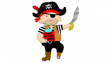 Pirate for Happy Birthday Supershape Balloon