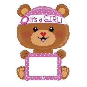 Little Bear It's a Girl Dry Erase Supershape Balloon