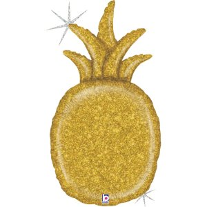 Pineapple Gold Holographic Design Balloon Supershape