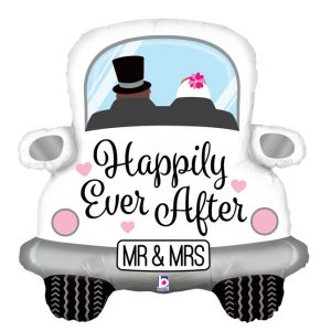Αυτοκίνητο Mr And Mrs Happily Ever After Μπαλόνι Supershape