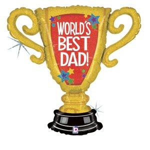 Κύπελλο World's Best Dad - Ο Καλύτερος Μπαμπάς Του Κόσμου Μπαλόνι Supershape